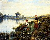 A Passing Conversation by Daniel Ridgway Knight
